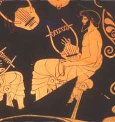 Music Lesson, from an Attic red figure vase signed Douris