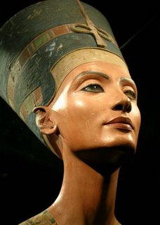 Bust of Egyptian queen Nefertiti